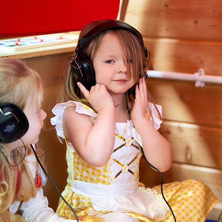 St Andrew's Primary - Nursery Pupil With Headphone On
